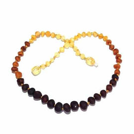 Adult Ombre Raw Rainbow Baltic Amber Necklace