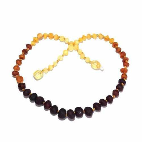 Adult Ombre Raw Rainbow Baltic Amber Necklace Jewellery / Necklaces / Beaded Necklaces Love Amber X