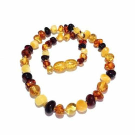 Adult Pebble Beach Polished Mixed Baltic Amber Anklet Jewellery / Body Jewellery / Anklets Love Amber X