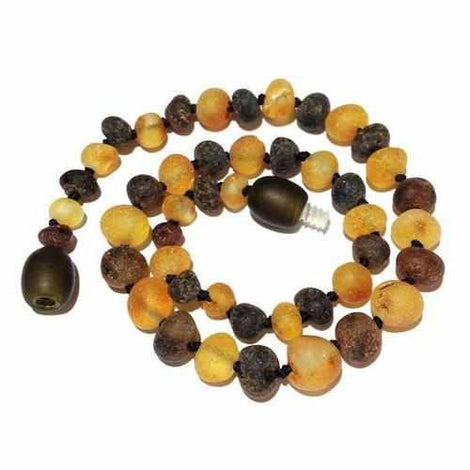 Adult Pippin Raw Green and Honey Baltic Amber Necklace Jewellery / Necklaces / Beaded Necklaces Love Amber X