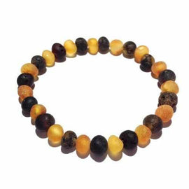 Adult Pippin Raw Green and Honey Baltic Amber Stretch Bracelet Jewellery / Bracelets / Beaded Bracelets Love Amber X