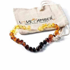 Adult Rainbow Bright Mixed Baltic Amber Anklet Jewellery / Body Jewellery / Anklets Love Amber X