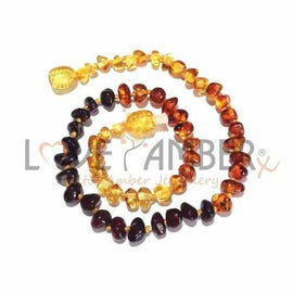 Adult Rainbow Bright Mixed Baltic Amber Necklace