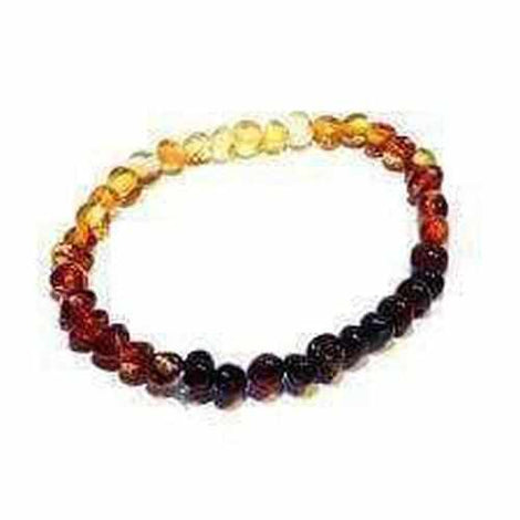 Adult Rainbow Bright Mixed Baltic Amber Stretch Bracelet Jewellery / Bracelets / Beaded Bracelets Love Amber X
