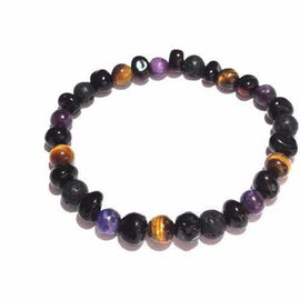 Adult Salem Gemstone Lava Rock and Cherry Baltic Amber Bracelet Jewellery / Bracelets / Beaded Bracelets Love Amber X