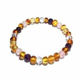 Adult Seraphina Gemstones and Honey Baltic Amber Bracelet Jewellery / Bracelets / Beaded Bracelets Love Amber X