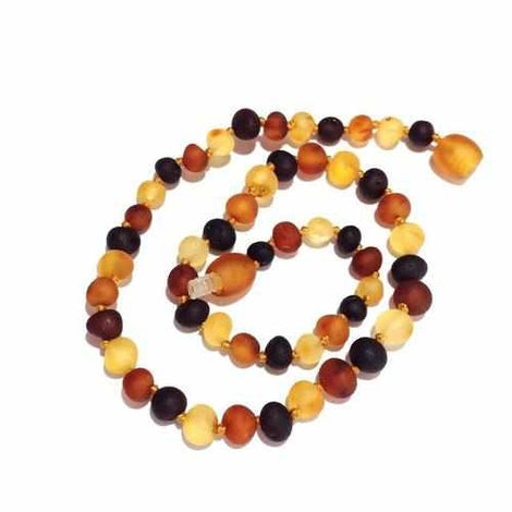 Adult Shingle Raw Mixed Baltic Amber Bracelet Love Amber X