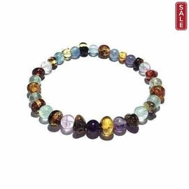 Adult Sirona Green Baltic Amber Fluorite Stretch Bracelet Jewellery / Bracelets / Beaded Bracelets Love Amber X