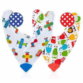 Bandana Teething Bibs 2 Pack Boys Feeding Bibs Nuby