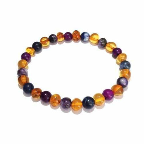Be Awesome Adult Gemstones Honey Baltic Amber Autism Anglia Bracelet Jewellery / Bracelets / Beaded Bracelets Love Amber X