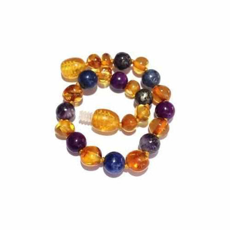 Be Awesome Gemstones Honey Baltic Amber Childs Anklet Bracelet Autism Anglia Awareness Jewellery / Body Jewellery / Anklets Love Amber X