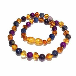 Be Awesome Gemstones Honey Baltic Amber Childs Necklace Autism Anglia Awareness