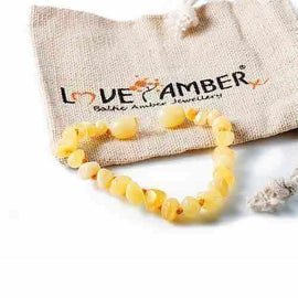 Child Ambrosia Polished Butterscotch Baltic Amber Anklet Bracelet Jewellery / Body Jewellery / Anklets Love Amber X