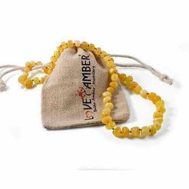 Child Ambrosia Polished Butterscotch Baltic Amber Necklace