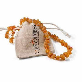 Child Bees Knees Raw Honey Baltic Amber Necklace Love Amber X