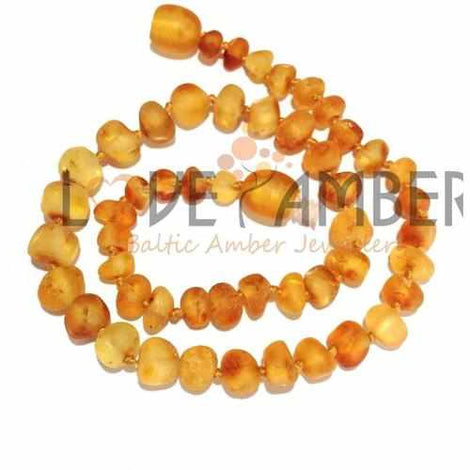 Child Bees Knees Raw Honey Baltic Amber Necklace Jewellery / Necklaces / Beaded Necklaces Love Amber X