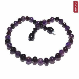Child Blackberry Cherry Baltic Amber Amethyst Necklace Jewellery / Necklaces / Beaded Necklaces Love Amber X