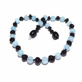 Child Blueberry Cherry Baltic Amber Aquamarine Necklace Jewellery / Necklaces / Beaded Necklaces Love Amber X