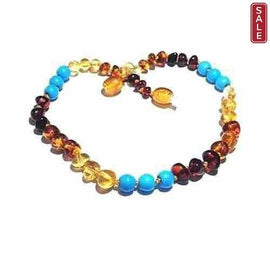 Child Boho Rainbow Mixed Baltic Amber Necklace Jewellery / Necklaces / Beaded Necklaces Love Amber X