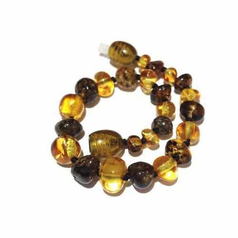 Child Bramley Polished Green and Honey Baltic Amber Anklet Bracelet Jewellery / Body Jewellery / Anklets Love Amber X