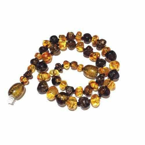 Child Bramley Polished Green and Honey Baltic Amber Necklace