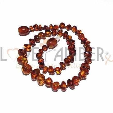 Child Brandy Snap Cognac Baltic Amber Necklace Jewellery / Necklaces / Beaded Necklaces Love Amber X
