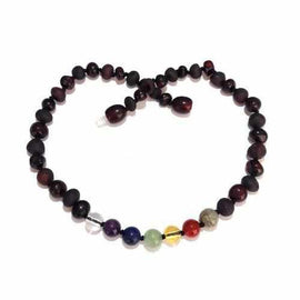 Child Chakra Rainbow After The Storm Mixed Cherry Baltic Amber Necklace Jewellery / Necklaces / Beaded Necklaces Love Amber X