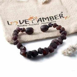 Child Cherryaid Raw Dark Cherry Baltic Amber Anklet Bracelet Love Amber X