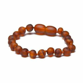 Child Cocoa Raw Unpolished Cognac Baltic Amber Anklet Bracelet Jewellery / Body Jewellery / Anklets Love Amber X