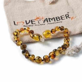 Child Earthy Polished Rare Green Baltic Amber Anklet Bracelet Jewellery / Body Jewellery / Anklets Love Amber X