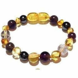 Child Eirene Gemstones and Honey Baltic Amber Anklet Bracelet Jewellery / Body Jewellery / Anklets Love Amber X