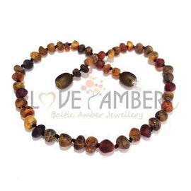Child Enchanted Raw Green Baltic Amber Necklace Jewellery / Necklaces / Beaded Necklaces Love Amber X