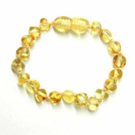 Child Goldirocks Polished Lemon Baltic Amber Anklet Bracelet Jewellery / Body Jewellery / Anklets Love Amber X