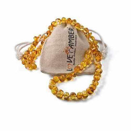 Child Goldirocks Polished Lemon Baltic Amber Necklace Jewellery / Necklaces / Beaded Necklaces Love Amber X