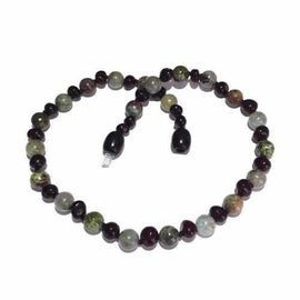 Child Helios Labradorite Bloodstone Polished Cherry Baltic Amber Necklace Jewellery / Necklaces / Beaded Necklaces Love Amber X