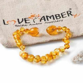 Child Honeypot Polished Honey Baltic Amber Anklet Bracelet Jewellery / Body Jewellery / Anklets Love Amber X
