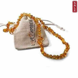 Child Honeypot Polished Honey Baltic Amber Necklace Love Amber X
