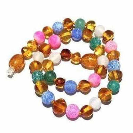 Child Mermaid Honey Baltic Amber Pink Blue Green Dragon Agate Necklace Jewellery / Necklaces / Beaded Necklaces Love Amber X
