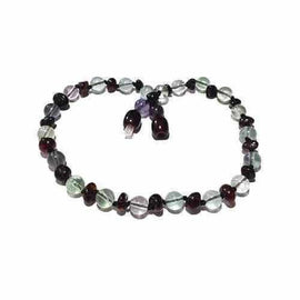 Child Midnight Brigid Cherry Baltic Amber Fluorite Necklace Jewellery / Necklaces / Beaded Necklaces Love Amber X