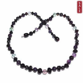 Child Midnight Eirene Gemstone Cherry Baltic Amber Necklace Jewellery / Necklaces / Beaded Necklaces Love Amber X
