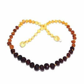 Child Ombre Raw Rainbow Baltic Amber Necklace Jewellery / Necklaces / Beaded Necklaces Love Amber X
