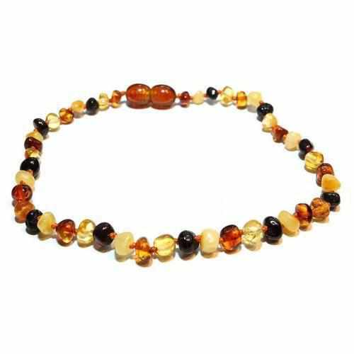 Mixed Polished Baltic Amber Childs Necklace Love Amber x Pebble Beach UK Seller