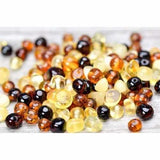 Child Pebble Beach Polished Mixed Baltic Amber Necklace Jewellery / Necklaces / Beaded Necklaces Love Amber X