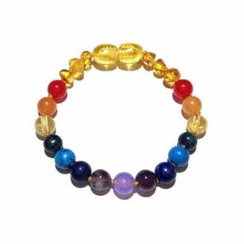 Child Phoebe Gemstones and Lemon Baltic Amber Anklet Jewellery / Body Jewellery / Anklets Love Amber X