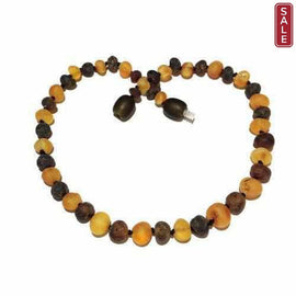 Childs Pippin Raw Unpolished Green Honey Baltic Amber Bead Necklace Love Amber X