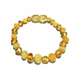 Child Popcorn Polished Honey Butterscotch Baltic Amber Anklet Bracelet