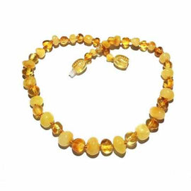 Child Popcorn Polished Mixed Baltic Amber Necklace Jewellery / Necklaces / Beaded Necklaces Love Amber X