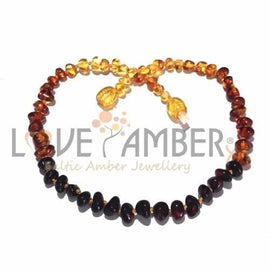 Child Rainbow Bright Mixed Baltic Amber Necklace