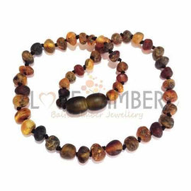 Child Sage Raw Light Green Baltic Amber Necklace Love Amber X