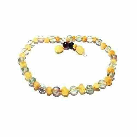 Child Salus Butterscotch Baltic Amber Fluorite Necklace Jewellery / Necklaces / Beaded Necklaces Love Amber X